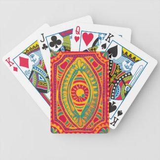 Ojo de los gitanos del ánimo anaranjado baraja cartas de poker