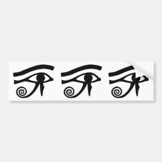 Ojo de los Hieroglyphics de Horus Etiqueta De Parachoque