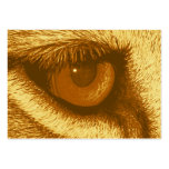 Ojo de los leones, Brown y pastel amarillo Tarjetas De Visita