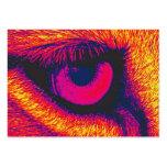 Ojo de los leones en rojo tarjeta de visita