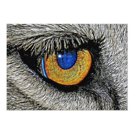 Ojo de los leones, poster realista invitación 12,7 x 17,8 cm