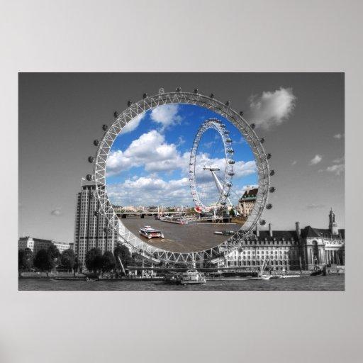 Ojo de los ojos de Londres Póster