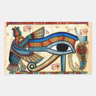 OJO de los pegatinas de HORUS Egipto antiguo Pegatina Rectangular