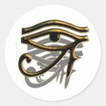 Ojo de los pegatinas de Horus Pegatina Redonda