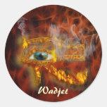 Ojo de los pegatinas egipcios del arte de Horus Etiqueta Redonda