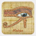 OJO de los pegatinas egipcios del arte de HORUS Calcomanías Cuadradas
