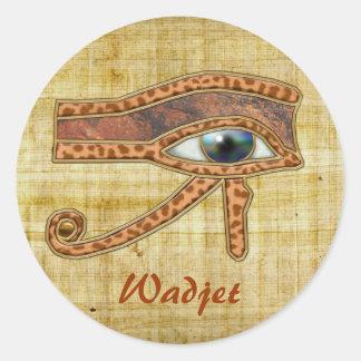 OJO de los pegatinas egipcios del arte de Wadjet Pegatina Redonda