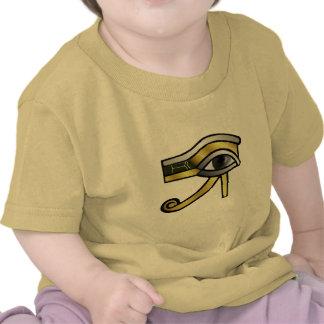 Ojo de oro de Horus Camisetas