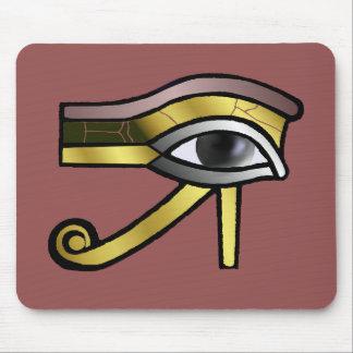Ojo de oro del cojín de ratón de Horus Alfombrilla De Ratón
