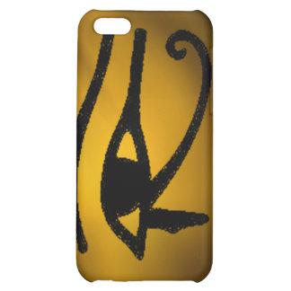 Ojo de oro egipcio del caso del iphone 4 de Horus
