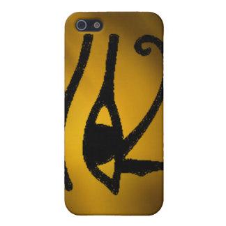 Ojo de oro egipcio del caso del iphone 4 de Horus iPhone 5 Cárcasas