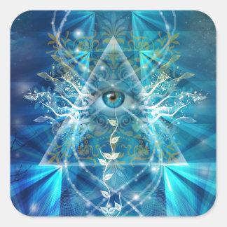 Ojo de Osiris Pegatina Cuadrada