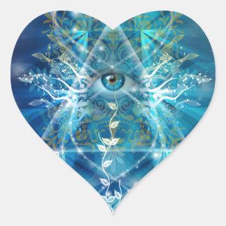 Ojo de Osiris Pegatina En Forma De Corazón