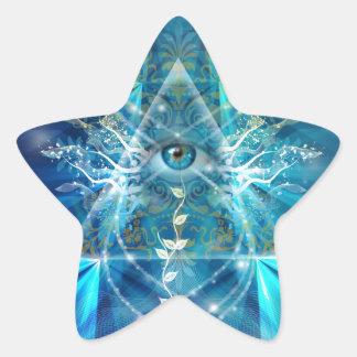 Ojo de Osiris Pegatina En Forma De Estrella