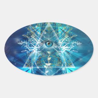Ojo de Osiris Pegatina Ovalada