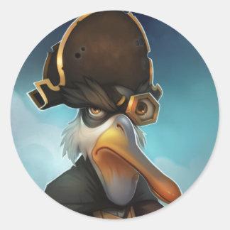 Ojo de pescados de Pirate101 Ol Pegatina Redonda