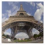 Ojo de pescados tirado de torre Eiffel Azulejo Ceramica