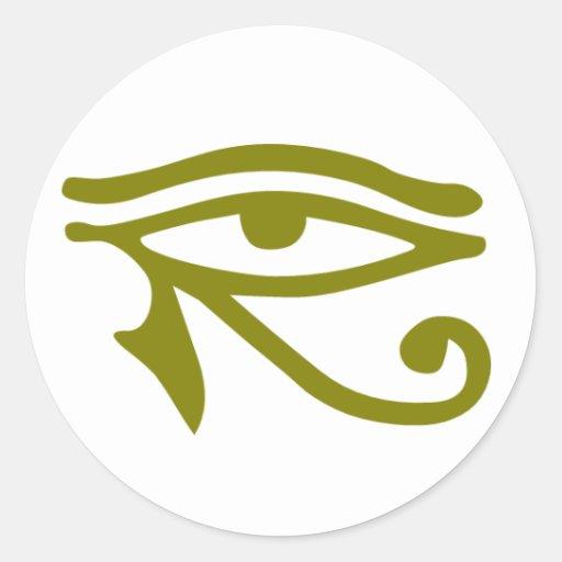 ojo de pharaohs pegatinas redondas