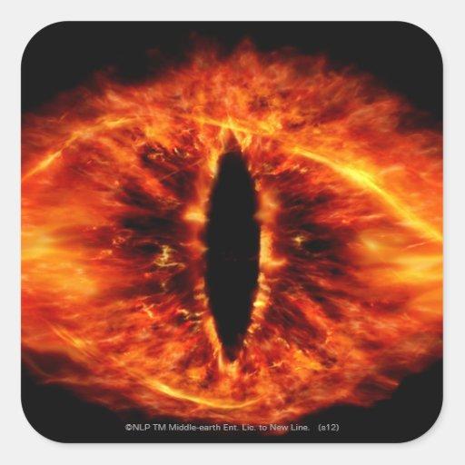Ojo de Sauron Pegatina Cuadrada