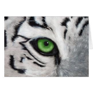 Ojo de tigre postal tarjeta de felicitación