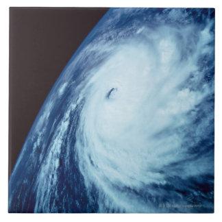 Ojo de una tormenta azulejo cuadrado grande