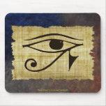OJO de WADJET DE HORUS en el papiro Mousepad