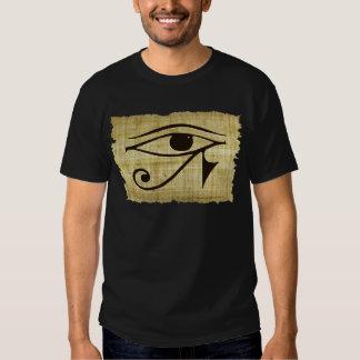 OJO de WADJET DE HORUS en los regalos del papiro Remeras