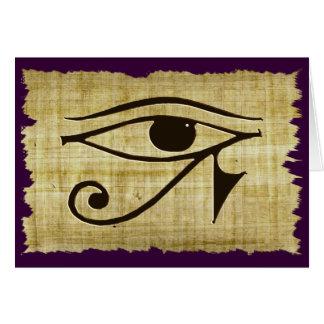 OJO de WADJET DE HORUS en los regalos del papiro Tarjeta De Felicitación