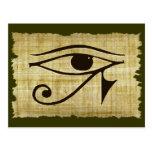 OJO de WADJET DE HORUS en los regalos del papiro Postal