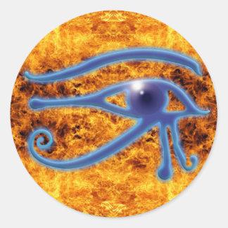 Ojo de Wadjet de Horus y de los pegatinas del Etiquetas Redondas