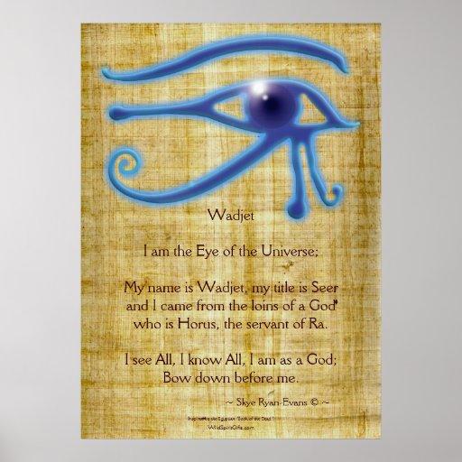 OJO de WADJET y impresión egipcia del arte del poe Posters