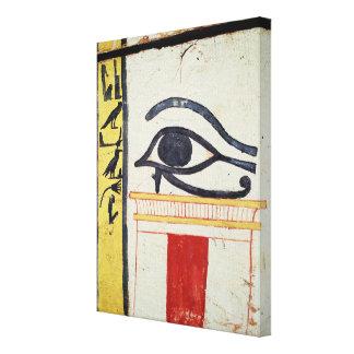 Ojo de Wedjat detalle de la cubierta del sarcófag Lona Estirada Galerias