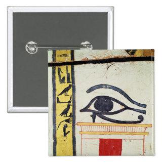 Ojo de Wedjat, detalle de la cubierta del sarcófag Pin