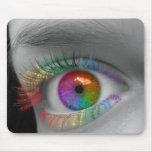 Ojo del arco iris alfombrillas de ratones