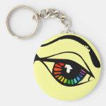 Ojo del arco iris llaveros personalizados