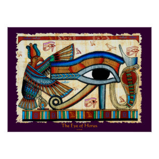OJO del arte de Wadjet del egipcio de HORUS Póster