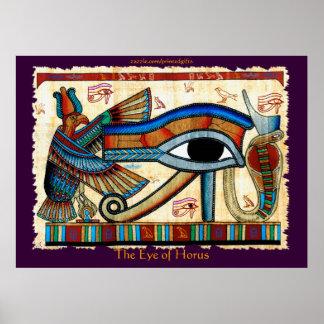 OJO del arte del egipcio de HORUS Poster