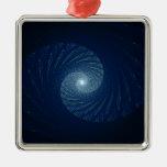 Ojo del arte del fractal del extracto de la tormen ornamento para arbol de navidad