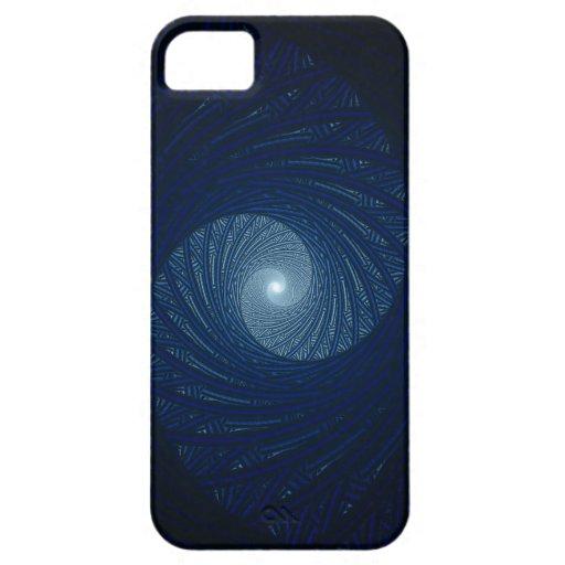 Ojo del arte del fractal del extracto de la tormen iPhone 5 Case-Mate protectores