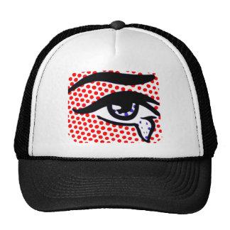 Ojo del arte pop gorras