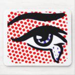 Ojo del arte pop tapetes de raton