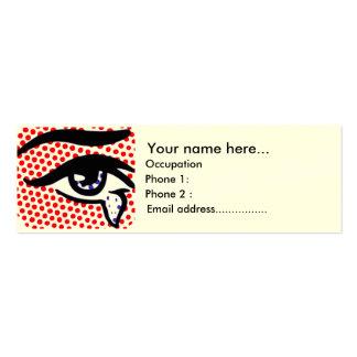 Ojo del arte pop tarjetas de negocios