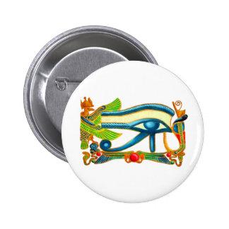 Ojo del botón de Horus Pin Redondo De 2 Pulgadas