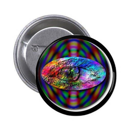 Ojo del botón redondo del eclipse pin