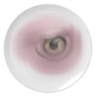 Ojo del buitre plato para fiesta