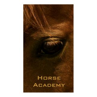 Ojo del caballo de la castaña tarjetas de visita