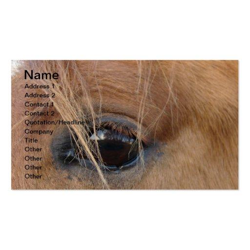 Ojo del caballo tarjetas de visita