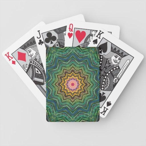 Ojo del caleidoscopio de la estrella baraja cartas de poker