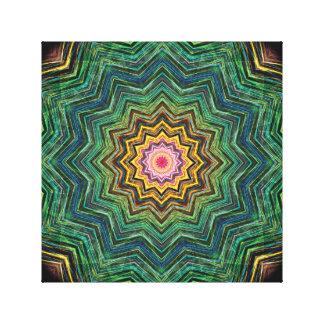 Ojo del caleidoscopio de la estrella impresiones en lienzo estiradas
