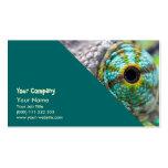Ojo del camaleón tarjetas de visita